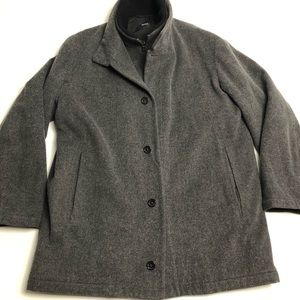 Boss Hugo Boss Virgin Wool Gray Cashmere Pea Coat